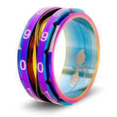Dice Ring - Rainbow, Size 13 (Counter)