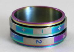 Dice Ring - Rainbow, Size 9 (FATE)