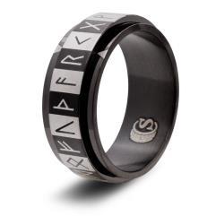 Dice Ring - Black, Size 11 (Futhark)