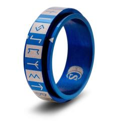 Dice Ring - Blue, Size 14 (Futhark)