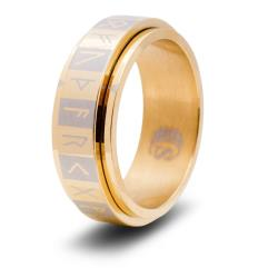 Dice Ring - Gold, Size 11 (Futhark)