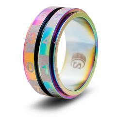 Dice Ring - Rainbow, Size 7 (d100)