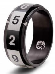 Dice Ring - Black, Size 10.5 (d10)