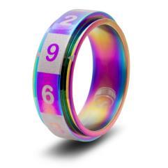 Dice Ring - Rainbow, Size 11 (d10)
