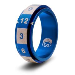 Dice Ring - Blue, Size 10 (d12)