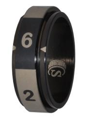 Dice Ring - Black, Size 16 (d6)