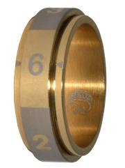 Dice Ring - Gold, Size 10 (d6)