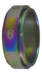 Dice Ring - Rainbow, Size 10 (d6)
