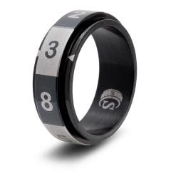 Dice Ring - Black, Size 6 (d8)