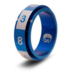 Dice Ring - Blue, Size 9 (d8)