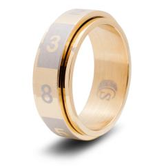 Dice Ring - Gold, Size 8 (d8)