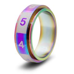 Dice Ring - Rainbow, Size 11 (d8)