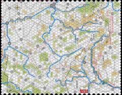 """Battle of the Bulge '81 - 1/2"""" Winter Map"""