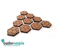 25mm Hexagonal Bases - Hex Pattern