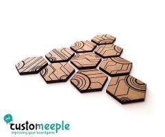 25mm Hexagonal Bases - Circuit Pattern