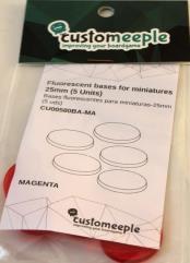25mm Bases - Magenta