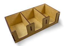 Deck Holders Mini Euro Size - 3 Holders