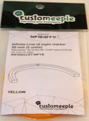 55mm Line of Sight Markers - Yellow