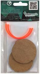 55mm Integrated Arc of Fire Base - Fluor Orange