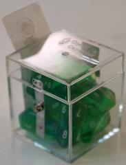 Crystal D10 Green w/White (10)