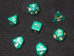 Poly Set Green 12mm (7 pc. Set) w/Pouch