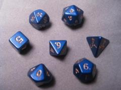 Poly Set Blue 12mm (7 pc. set) w/Pouch
