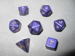 Poly Set Purple 12mm (7 pc set) w/Pouch