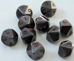 Hematite (10 pc. set of d10's) w/Pouch