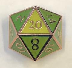 Giant d20 - Copper w/Green Enamel