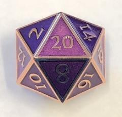 Giant d20 - Copper w/Purple Enamel
