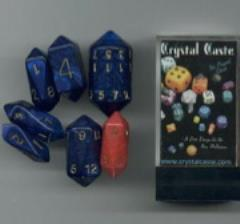 Crystal Poly Set Blue w/Gold (7)