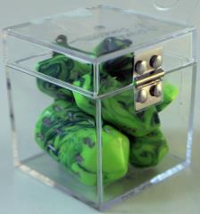 Crystal Poly Set Green w/Blue (7)