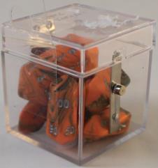 Crystal Poly Set Orange w/Green (7)