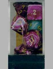 Poly Set Purple w/Gold (7)