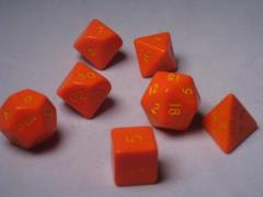 Poly Set Orange w/Yellow (7)