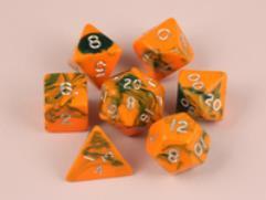 35mm Poly Set Orange w/Green (7)