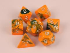 Poly Set Orange w/Green (7)