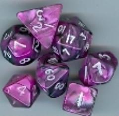 Mini Poly Set Black w/Pink (7)