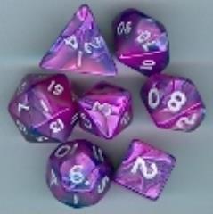Mini Poly Set Blue w/Pink (7)