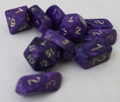 Hybrid Poly Set Purple w/Gold (10)
