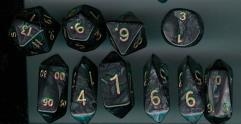 Hybrid Poly Set Black w/Gold (10)