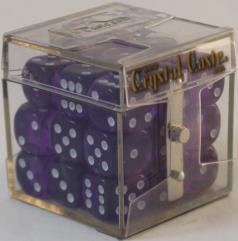 D6 12mm Purple w/White (27)