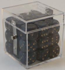 D6 12mm Black w/Gold (27)