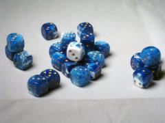 D6 12mm Blue w/Gold (27)