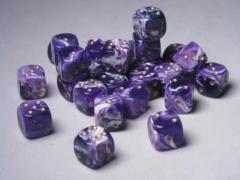 D6 12mm Purple w/Gold (27)