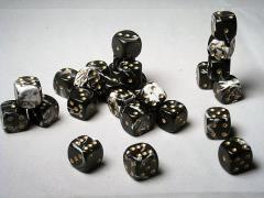 D6 12mm Black w/Gold (27)