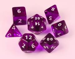 Poly Set 35mm - Purple w/White (7)