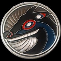 Coyote and the Moon Challenge Coin