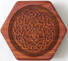 Aromatic Cedar - Open, Celtic Knot