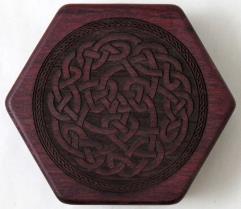 Purpleheart - Open, Celtic Knot
